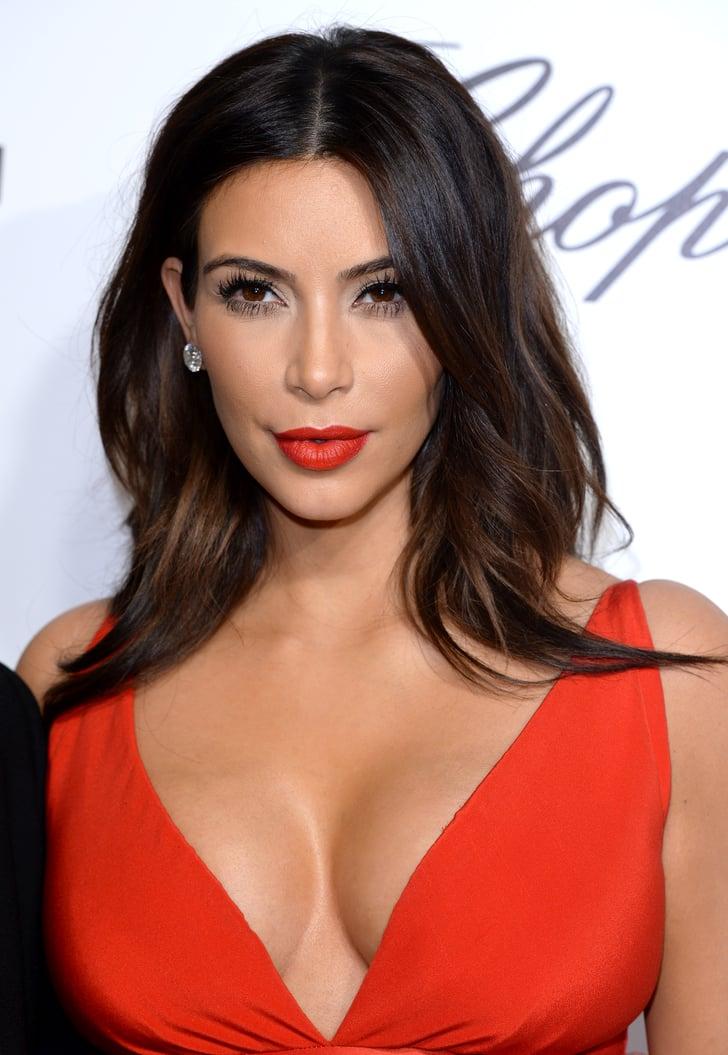 Kim Kardashian U0026 39 S Cherry Red Lip In 2014 Kim Kardashian U0026 39 S