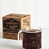 "You don't have to be a chemist to appreciate this ""Pour-ganic chemistry"" coffee mug ($20)."