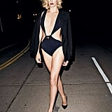 Charlize Theron walked the streets of LA in a cutout bikini for a sexy spread in Vanity Fair's March 2012 issue.