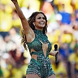 She can capture the attention of thousands of World Cup fans, even when they just want to see the soccer already.