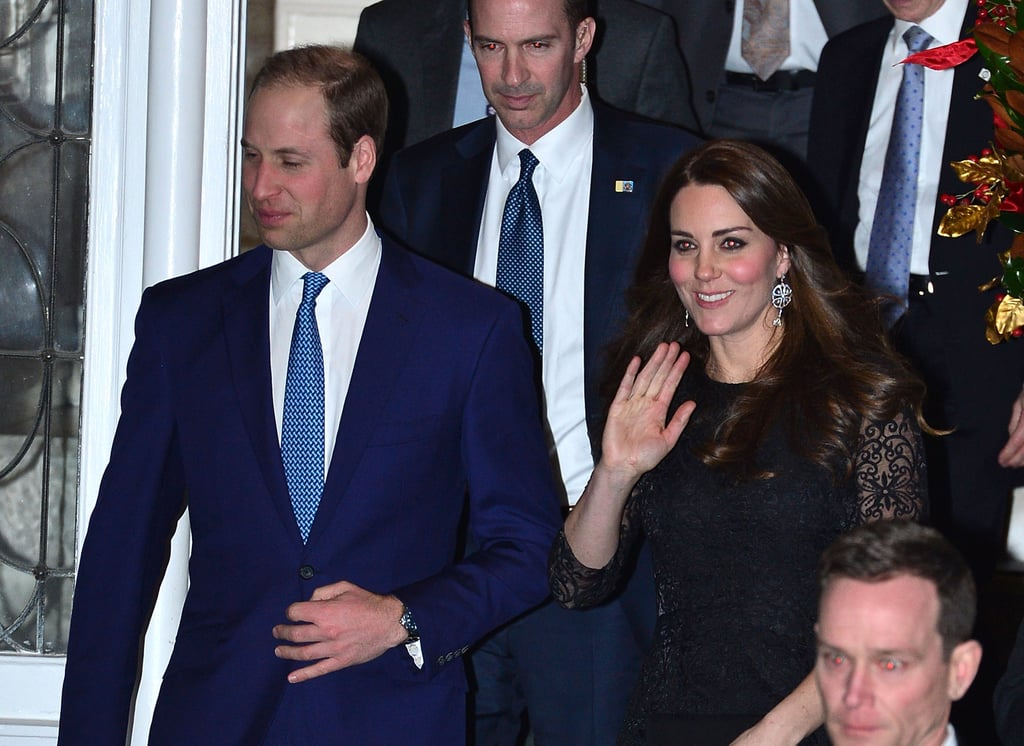 The Duchess Waved as She Made Her Way Onto the Street