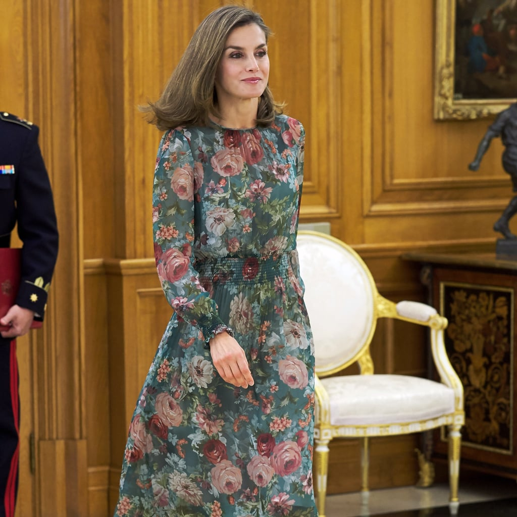 Queen Letizia Floral Zara Dress