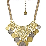 Ben-Amun Framed Filigree and Coin Necklace ($220)
