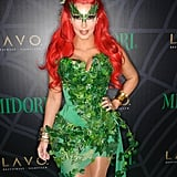 Kim Kardashian transformed into Poison Ivy for the night in 2011.