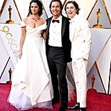 Pictured: Camila Alves, Matthew McConaughey, and Timothee Chalamet