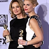 Jessica Lange and Claire Danes at the Golden Globes.