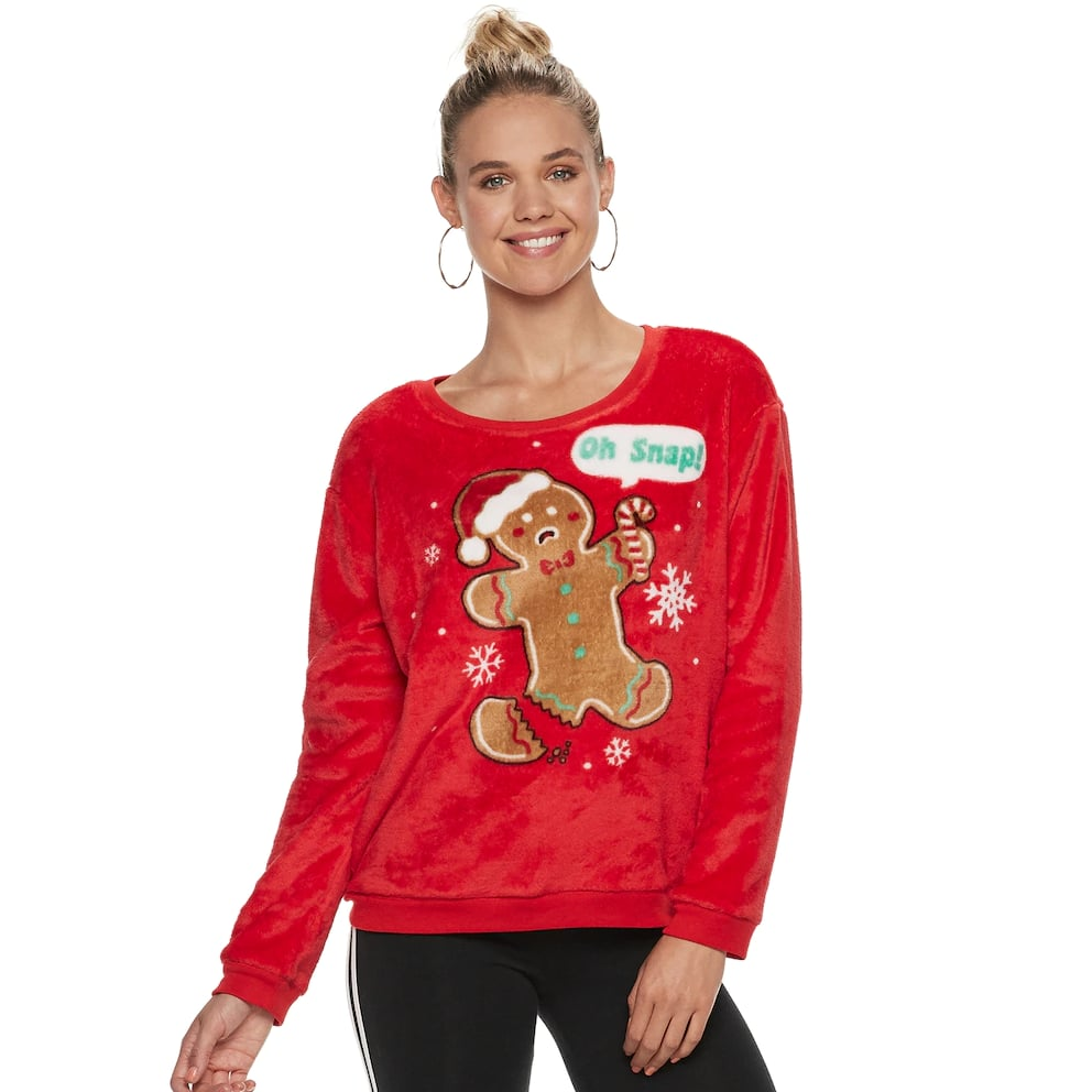 Oh Snap Fleece Christmas Sweatshirt Best Kohls Ugly Christmas