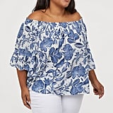H&M+ Off-the-Shoulder Blouse