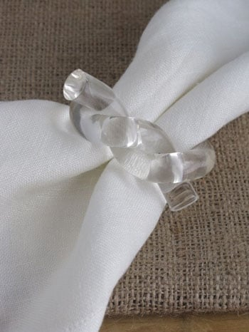 Etsy Find: Lucite Knot Napkin Rings