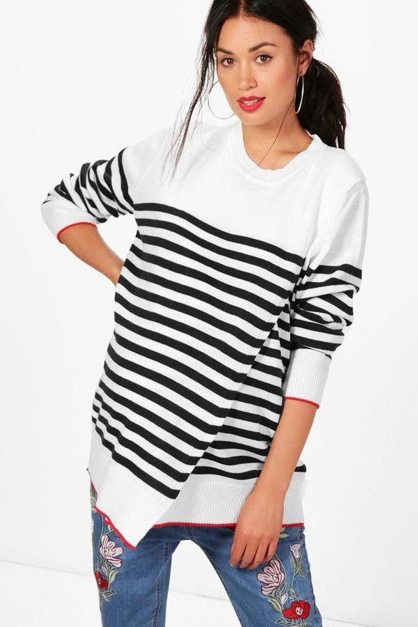 ba429692b1bc2 Boohoo Maternity Evelyn Striped Sweater | Maternity Clothes For Fall ...