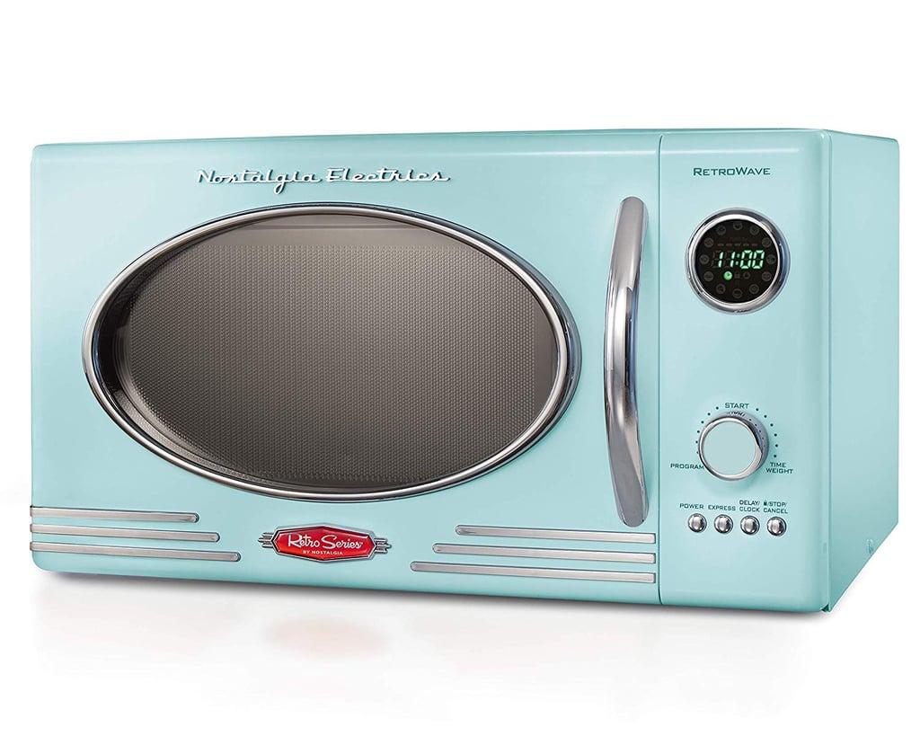 Nostalgia RMO4AQ Retro 800-Watt Countertop Microwave Oven ...
