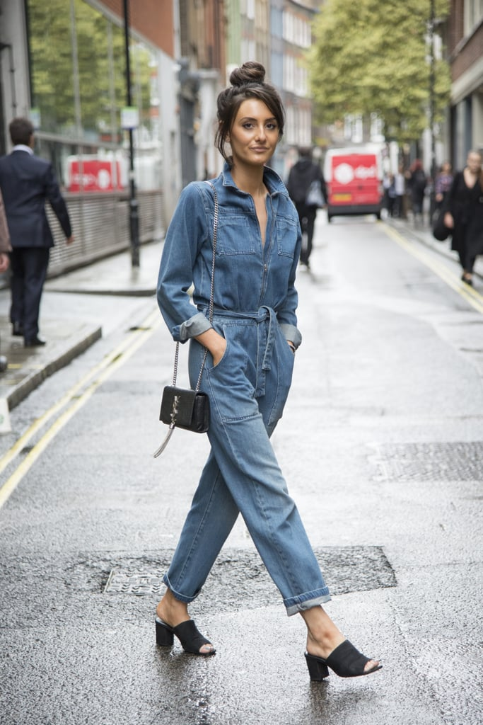 Stay Casual In A Denim Jumpsuit And Wear It With Mules How To