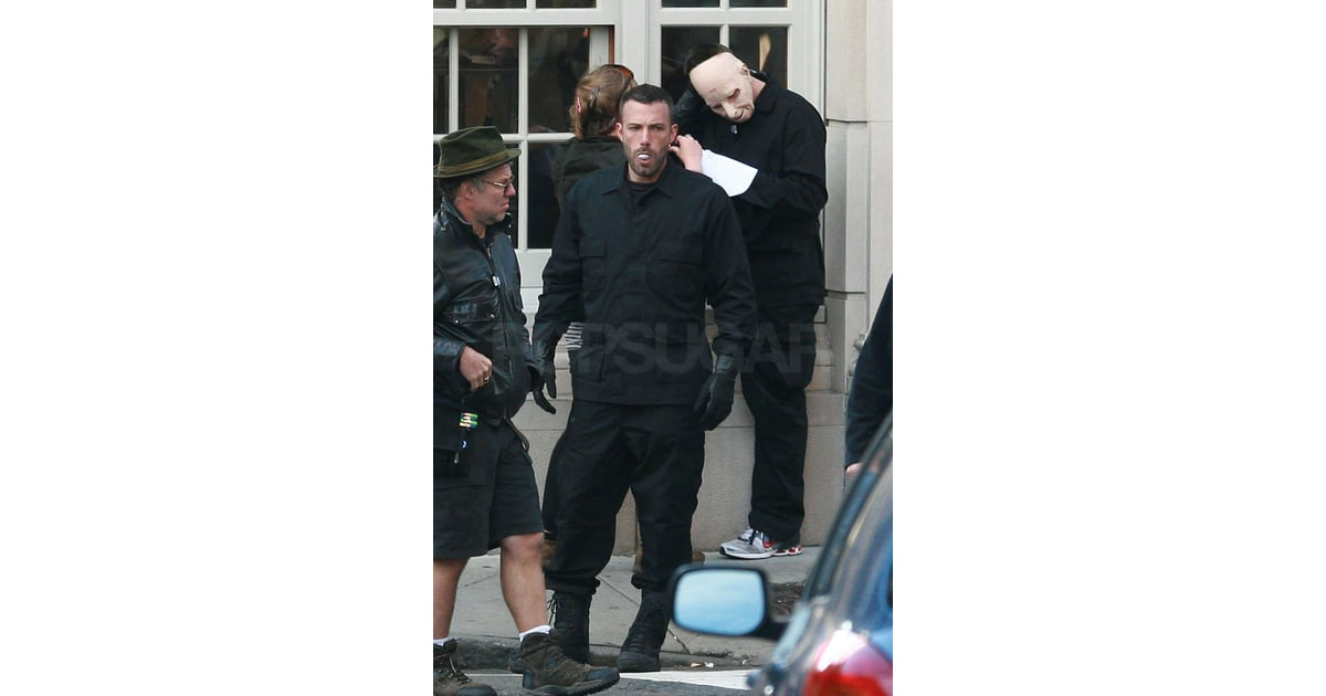 Photos Of Ben Affleck In A Mask On The Set Of The Town In