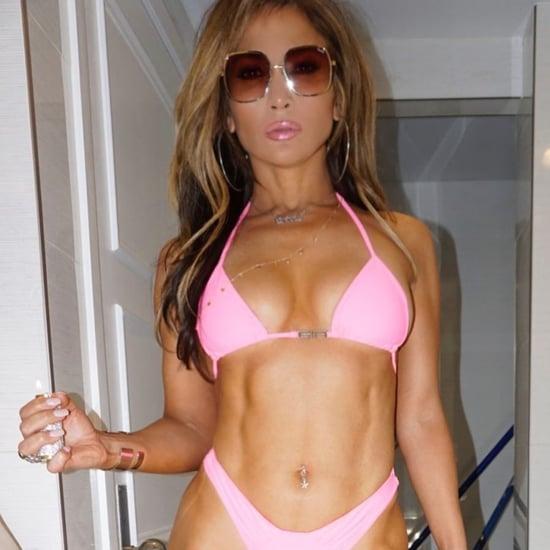 Jennifer Lopez's Neon Pink Bikini For Hustlers
