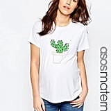 Asos T-Shirt With Cactus Embroidery ($23)