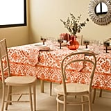 Damask Print Napkins and Tablecloth ($15-$40)