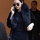 On Top, Kendall Rocked a Furry Scarf and Aviators