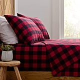 Stone and Beam Rustic Buffalo Check Flannel Bed Sheet Set