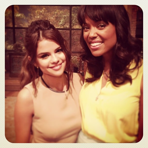 Selena Gomez made an adorable appearance on The Talk, and posed for a photo with host Aisha Tyler beforehand. Source: Instagram user aishatyler