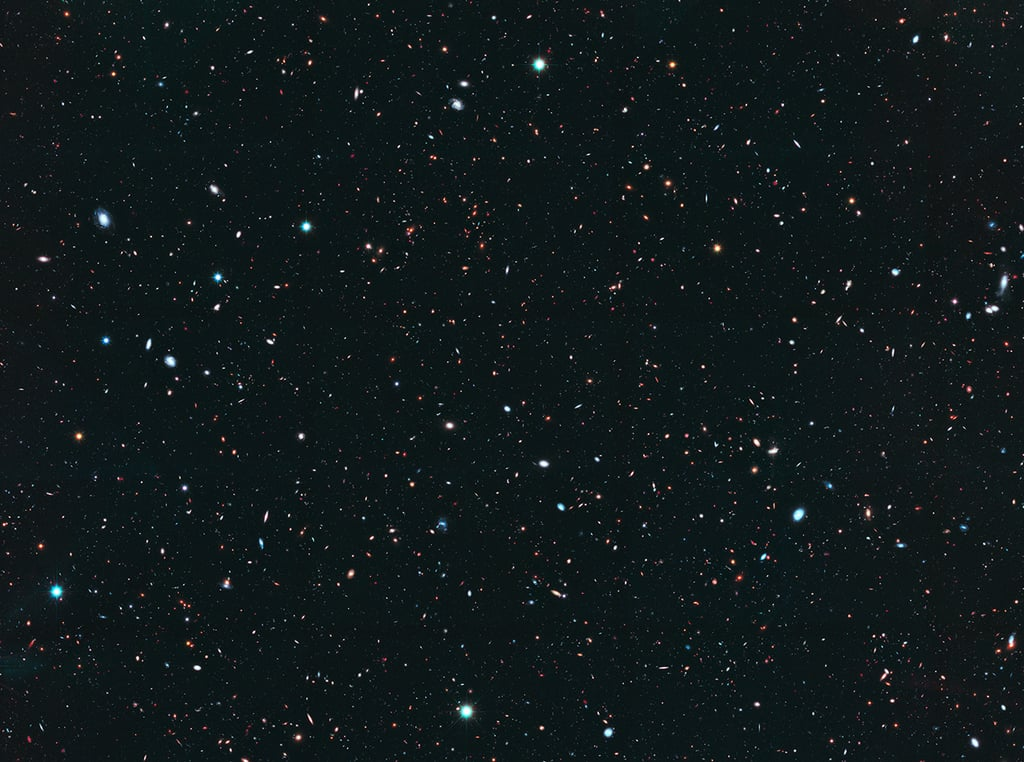 Here's what the Hubble Space Telescope sees.