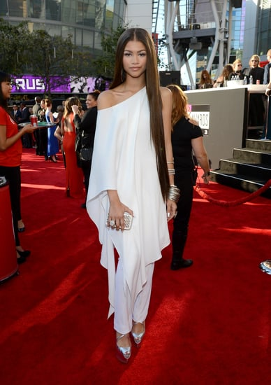 Zendaya-looked-pristine-off--shoulder-fluttering-white