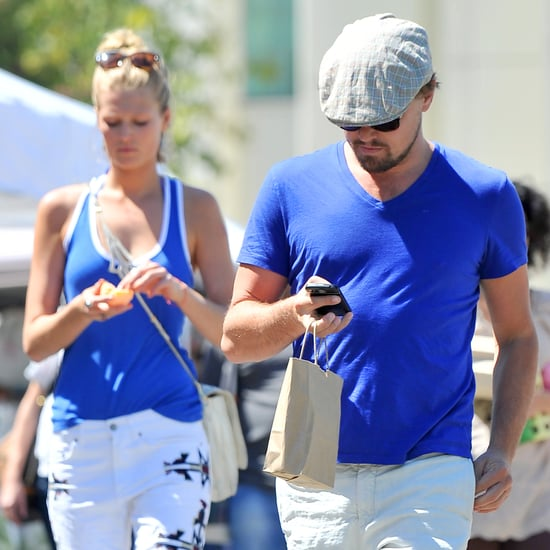 Leonardo DiCaprio and Toni Garrn Shop at Farmers Market