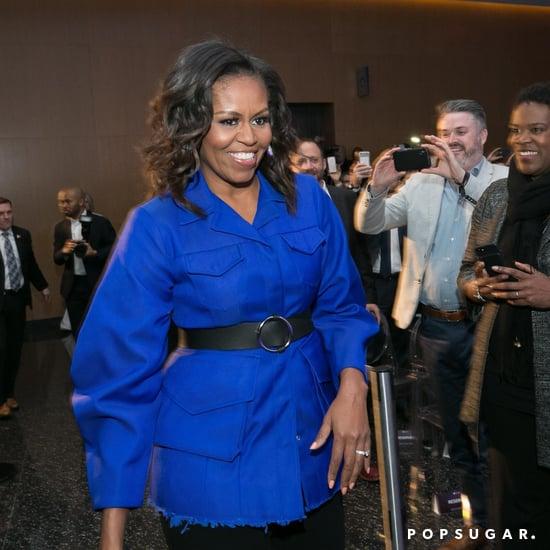 Michelle Obama's Blue Denim Shirt