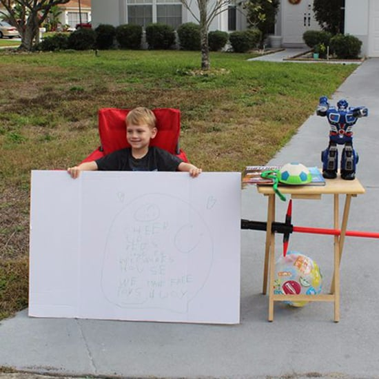 Boy Sets Up a Free Toy Stand For Kids in Need