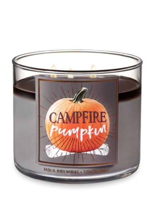 Campfire Pumpkin Three-Wick Candle