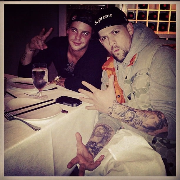 Joel Madden had dinner with Ryan Sheckler. Source: Instagram user joelmadden