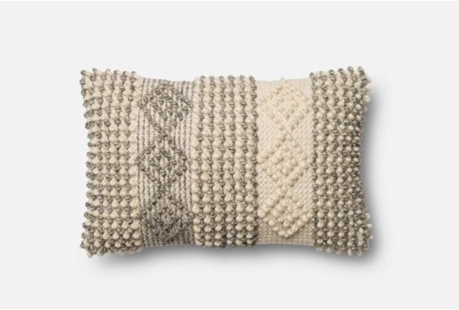 Grey/Ivory Diamond Stripes Pillow