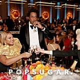 Beyoncé, JAY-Z, and Portia de Rossi at the 2020 Golden Globes