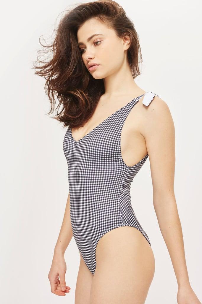 Gingham Tie Swimsuit