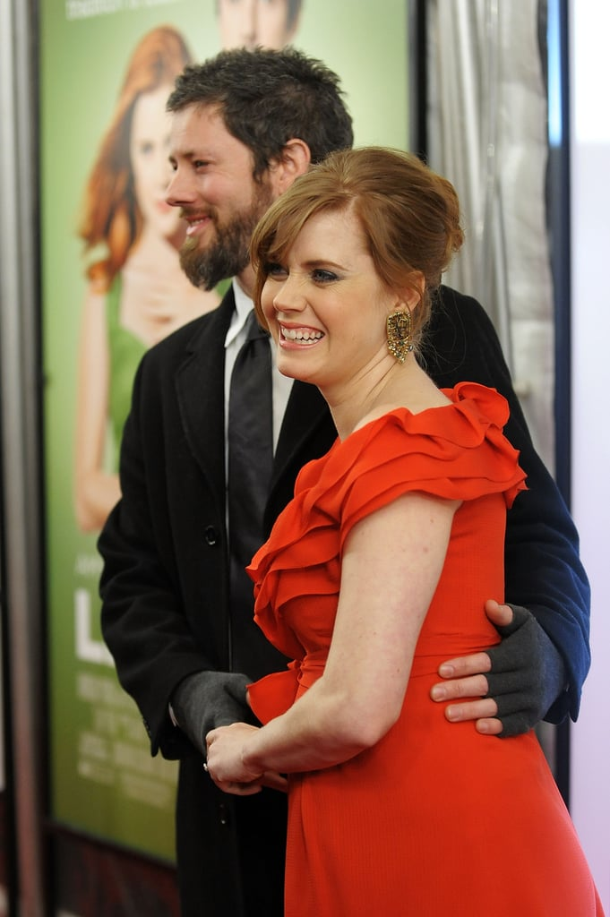 An expecting Amy was all smiles alongside Darren during the NYC Leap Year premiere in 2010.
