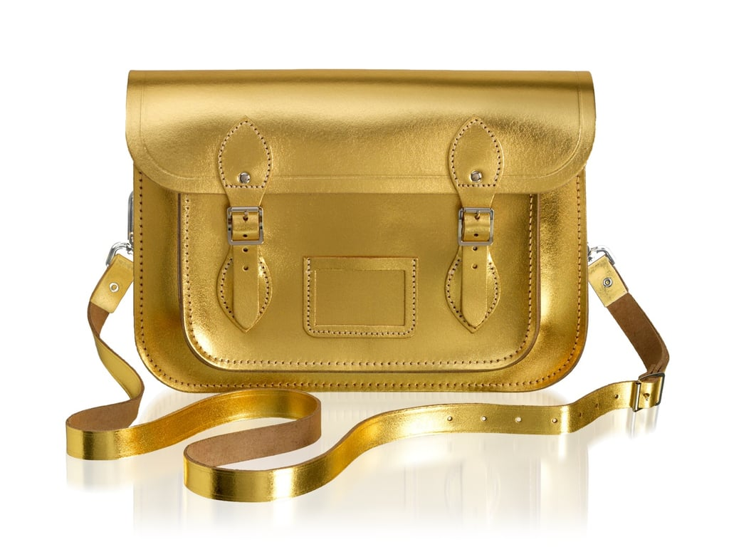 The Cambridge Satchel Company 11-Inch Satchel in Gold ($185)