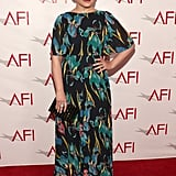 Ginnifer Goodwin brought vibrant color and print to the AFI Awards red carpet.