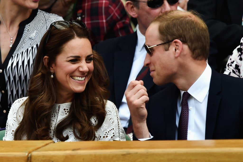 The duo were adorable during the Wimbledon Championship game in 2014.