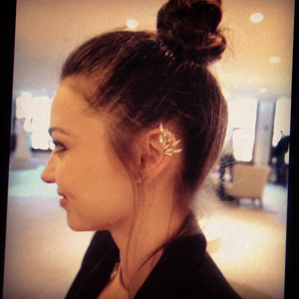"""That ear cuff is amazing, is it Ryan Storer? """"Yes! He's so awesome."""" Do you mind if we snap that? Ali's just going to fly around take pictures of you. """"Yes of course that's cool!"""""""