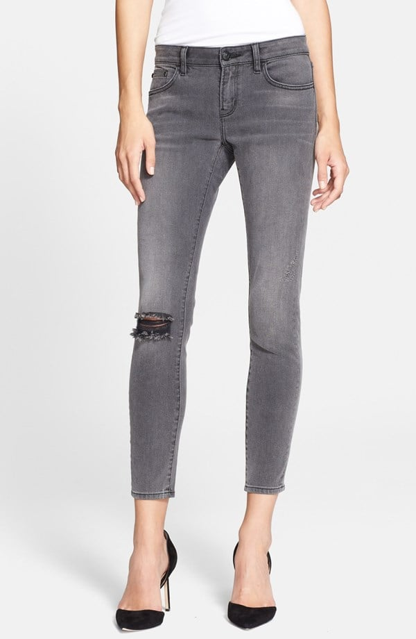 The Kooples Destroyed Ankle Jeans ($195)