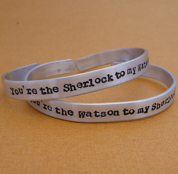Sherlock and Watson Friendship Bracelets ($25)