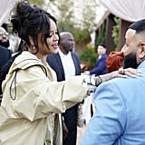 Rihanna and DJ Khaled at the 2020 Roc Nation Brunch in LA