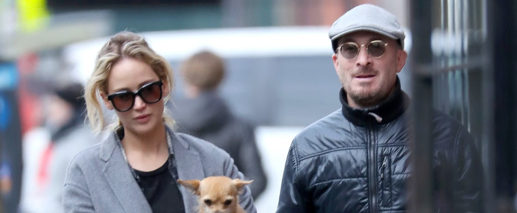 Jennifer Lawrence and Darren Aronofsky in NYC December 2017