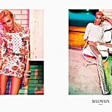 We love the bright rocker girl feel of the Balmain ads. Source: Fashion Gone Rogue