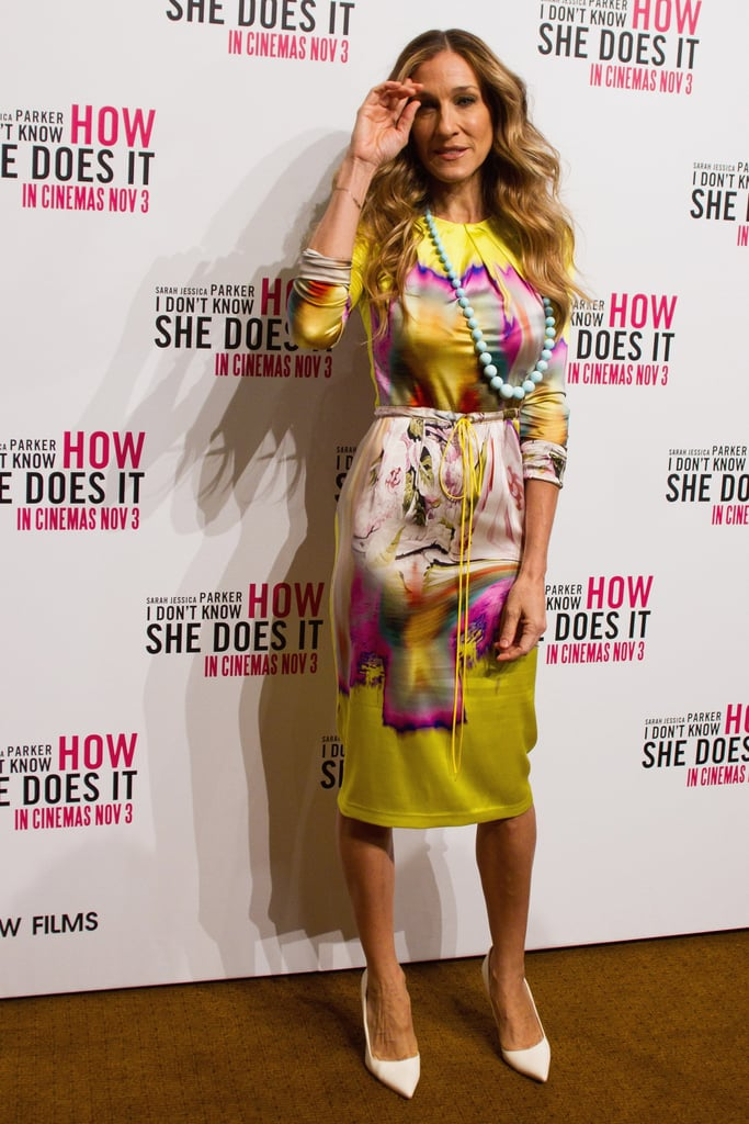 Sarah Jessica Parker posed for photographers at an event for I Don't Know How She Does It.