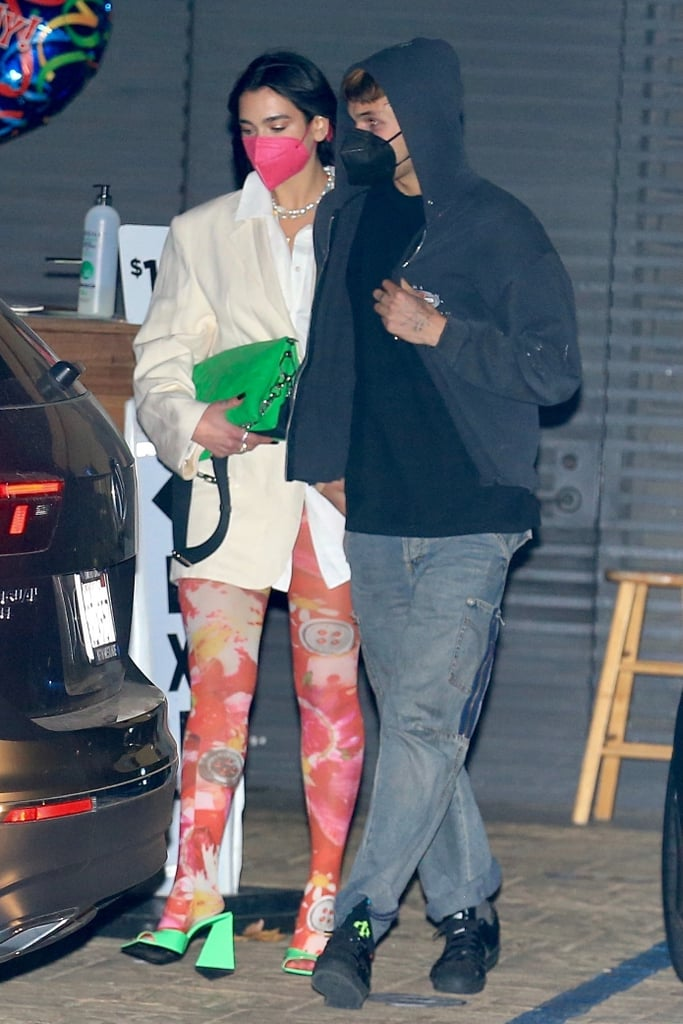 See Dua Lipa's Colorful Tights During Date With Anwar Hadid