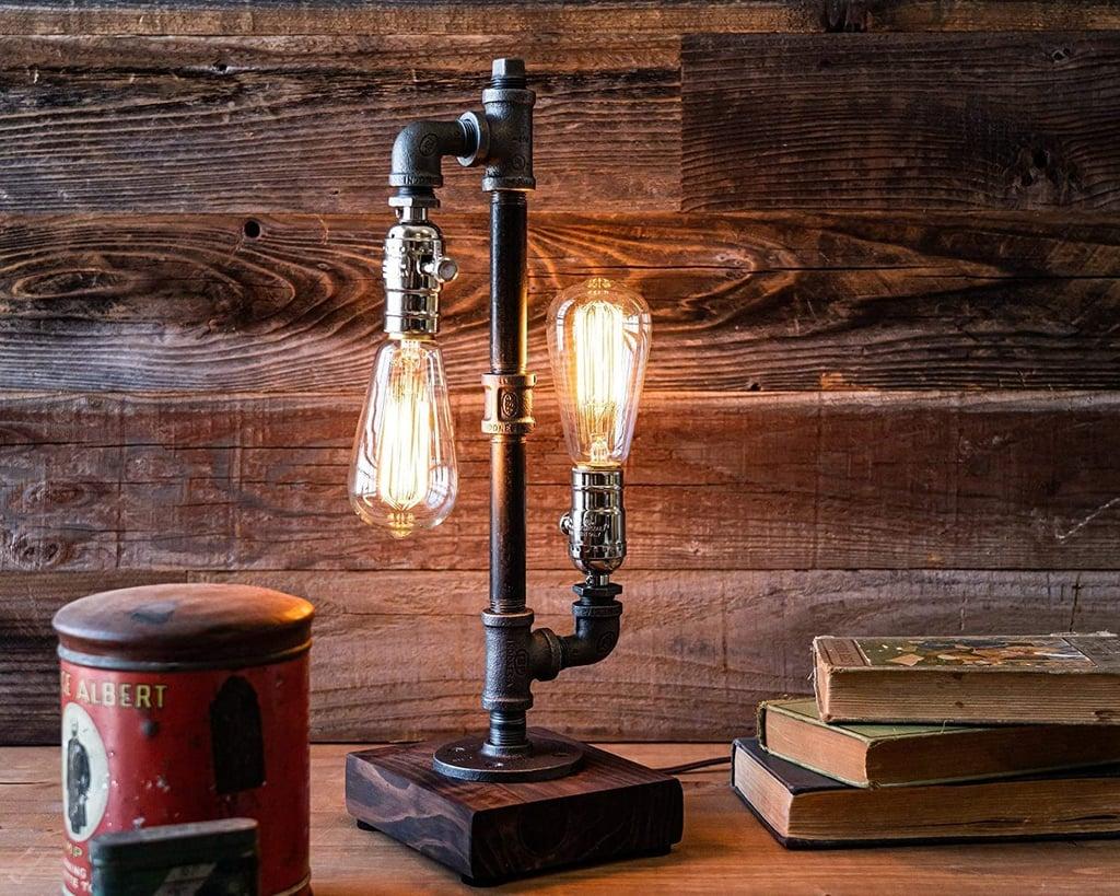 Urban Industrial Craft Edison Desk Lamp, Industrial Table Lamp