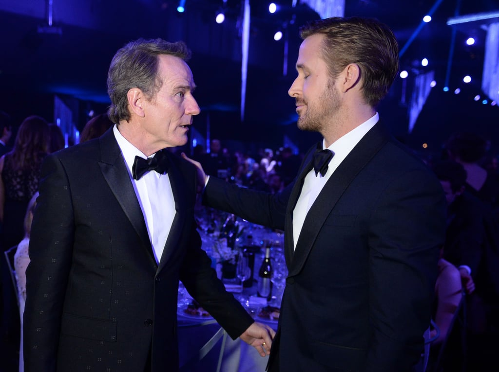 Pictured: Ryan Gosling and Bryan Cranston