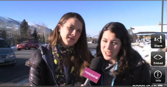 2011 Sundance Film Festival BuzzSugar and PopSugar Video 2011-01-21 16:12:19