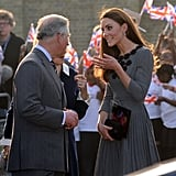 Prince Charles and Kate had an animated conversation during a 2012 engagement.