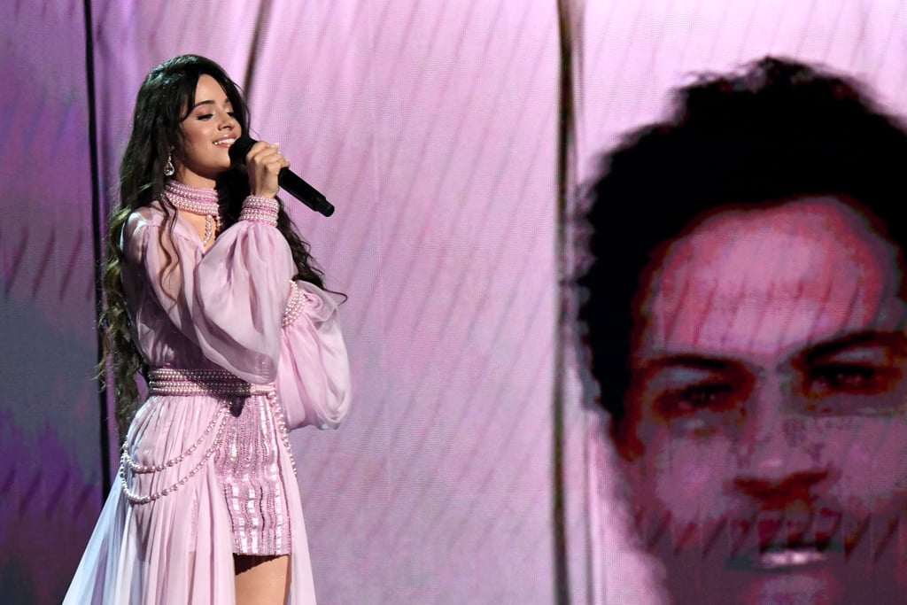 "Camila Cabello shared a sweet moment with her father, Alejandro, as she performed ""First Man"" at the Grammys on Sunday night. As she performed the song, which was written in honor of her dad, home videos of the two of them played on the screens. At the end of the performance, Cabello walked off the stage and hugged her dad, who was proudly watching from the front row. Though the 22-year-old singer was nominated with boyfriend Shawn Mendes for best pop duo/group performance, she decided to bring her dad as her date to the event. See his adorable reaction to her performance ahead."